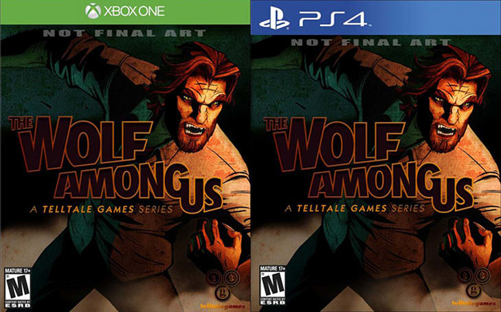 The Wolf Among Us retail versions listed for PS4, Xbox One