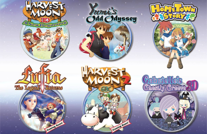 Lufia: The Legend Returns, Harvest Moon 2 to reach 3DS VC