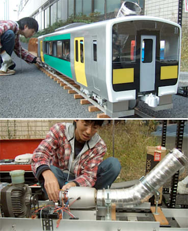 Hidepon Works turbine train: small enough to be adorable, big enough to ride