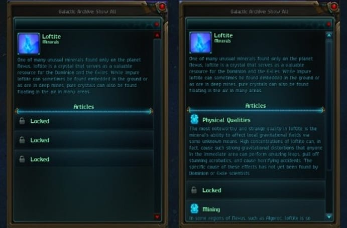 WildStar catalogues lore in its Galactic Archives