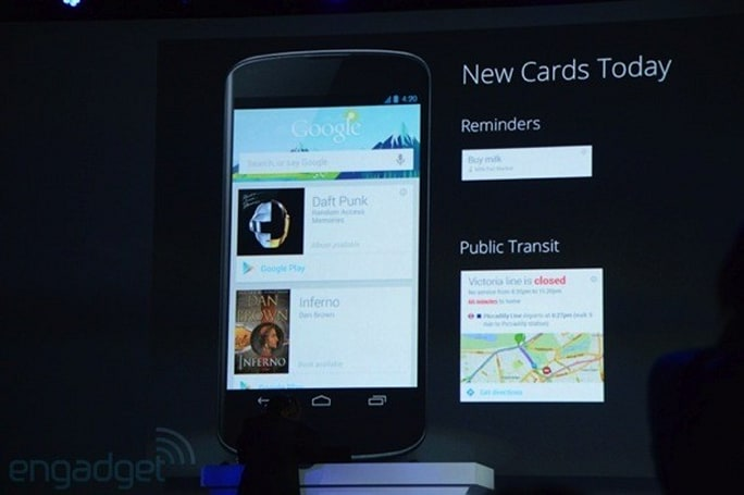 Google Now adds reminder cards, real-time public transit info and music recommendations