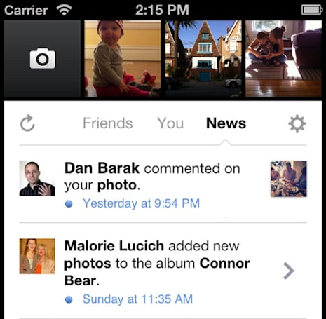 Facebook Camera update adds notifications, lets you pick and choose albums