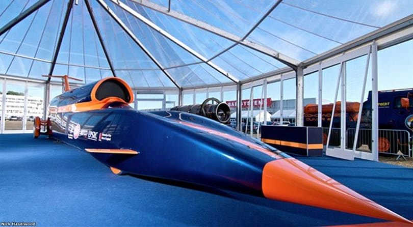 Bloodhound SuperSonic Car gets a full-scale model ahead of land speed record attempt