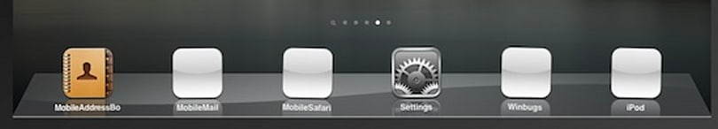 How many icons on that iPad dock?