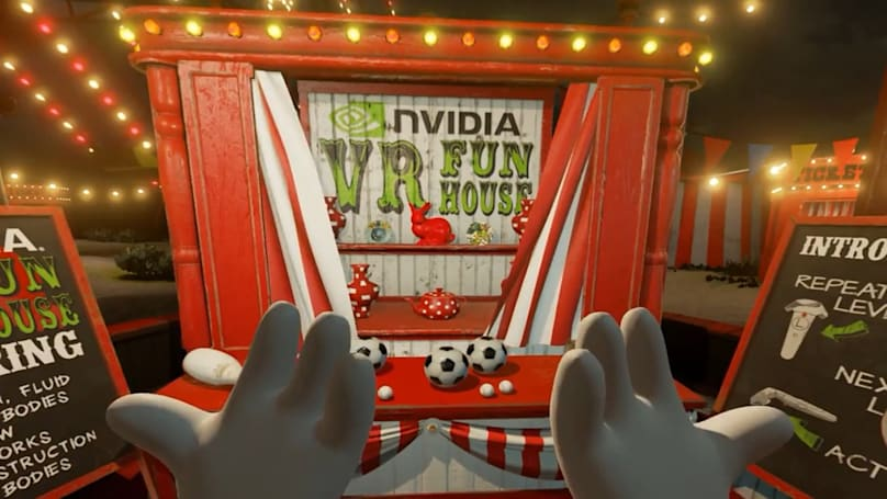 NVIDIA's 'VR Funhouse' carnival game just launched on Steam