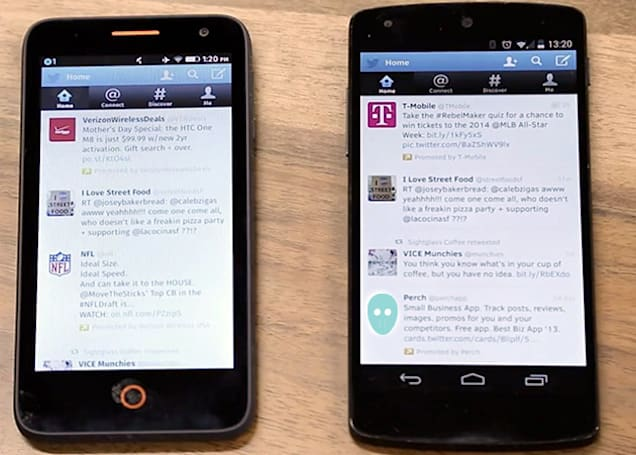 Firefox OS apps run like native apps on Android