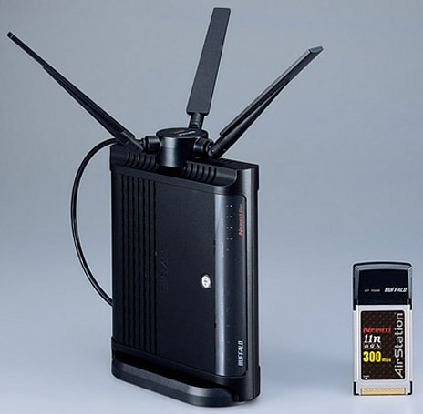 Buffalo unveils draft-N WZR-AMPG300NH router, PC Card