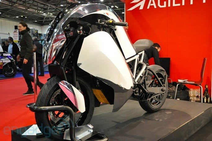 Agility Saietta electric sports bike eyes-on