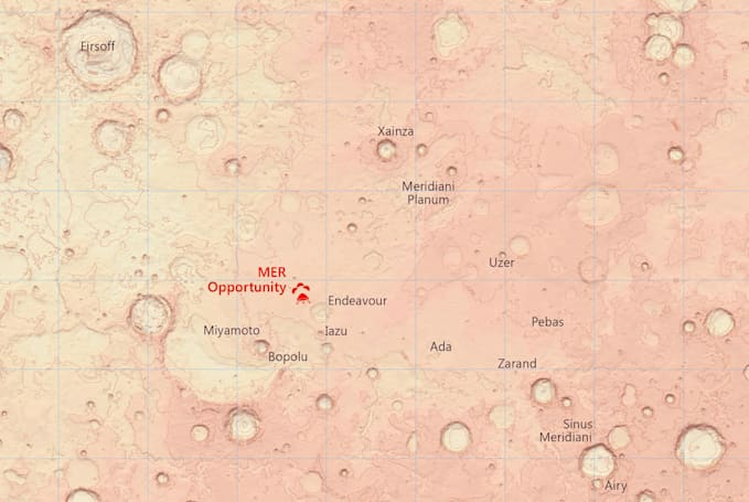 Detailed Mars maps help you plan the hike of your dreams