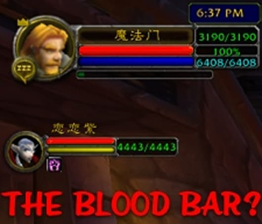 "World Wide WoW: The ""Blood Bar"""