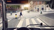 Volvo-Busse hupen Fußgänger automatisch aus dem Weg