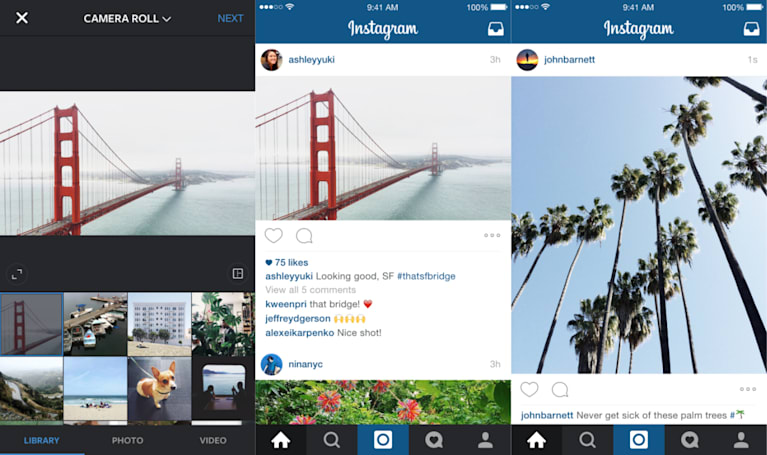 Instagram no longer thinks it's hip to be square