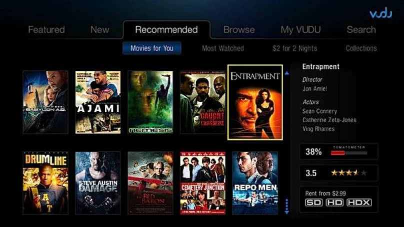 Vudu 2.0 interface moves beyond PS3 & Boxee Box, now available on most TVs, Blu-ray players