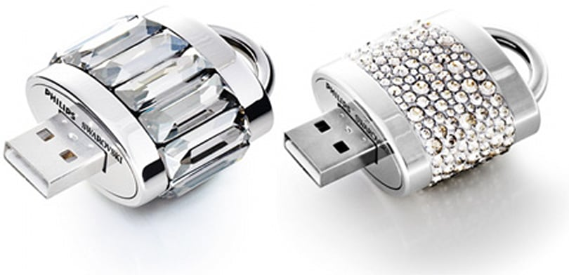 Philips and Swarovski offer up crystal-clad USB drives