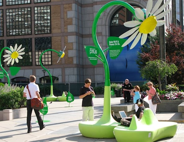 Toyota's giant solar flowers popping up across US to bring good will, free WiFi, and charging stations