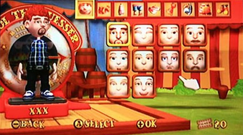 Carnival Games: Only for vanilla faces?