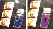 Kent Displays's Reflex LCD Electronic Skin changes colors to match your shirt, lipstick