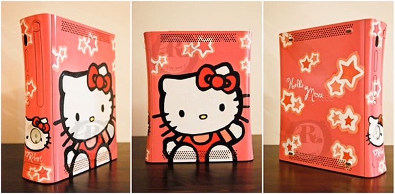 Hello Kitty Xbox 360 dazzles while you frag