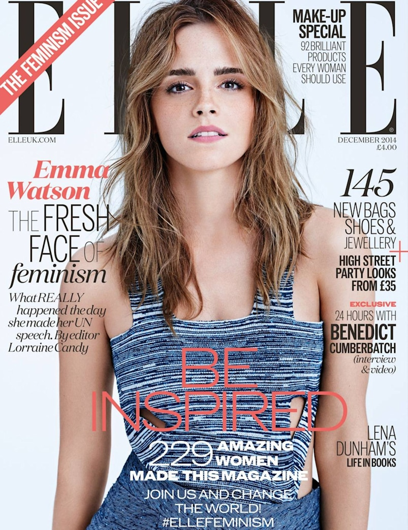 Emma Watson's bold brows on 'ELLE' UK -- How to