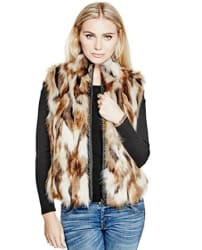 Guess Women's Kielo Faux Fur Vest