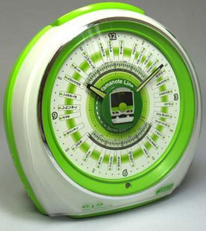 Yumekobo's Yamanote alarm clock shows train schedules