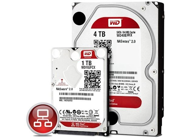 WD upgrades NAS-friendly Red drives with 2.5-inch versions and 4TB desktop model