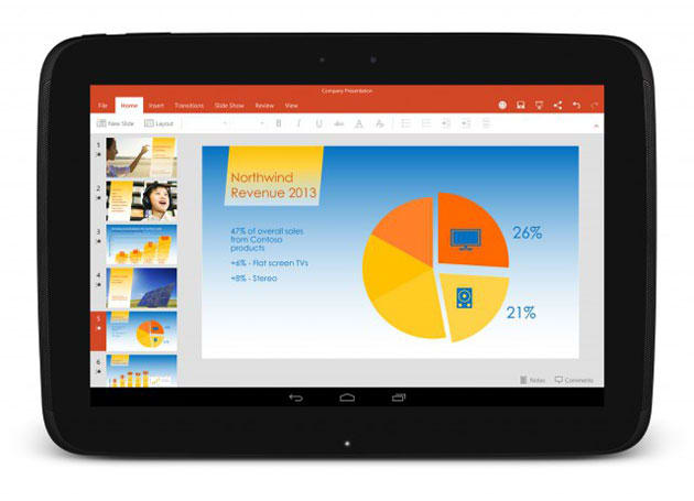 Microsoft's apps will ship with Android tablets from LG and Sony