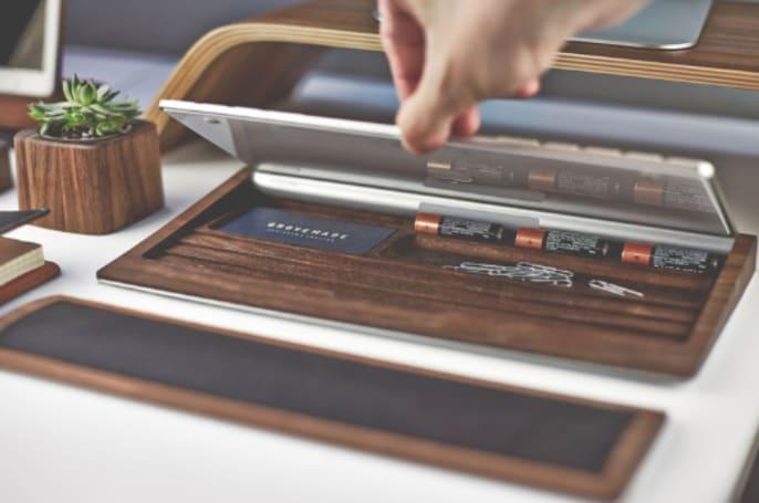 Grovemade Walnut Keyboard Tray: Beautiful and functional