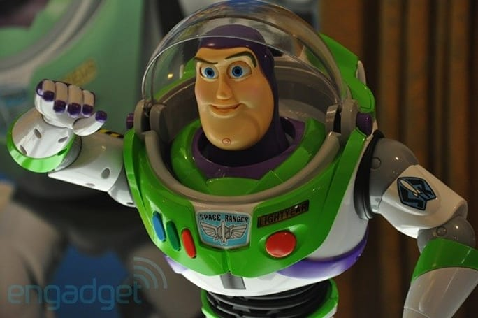 Ultimate Buzz Lightyear robot to the rescue, on video