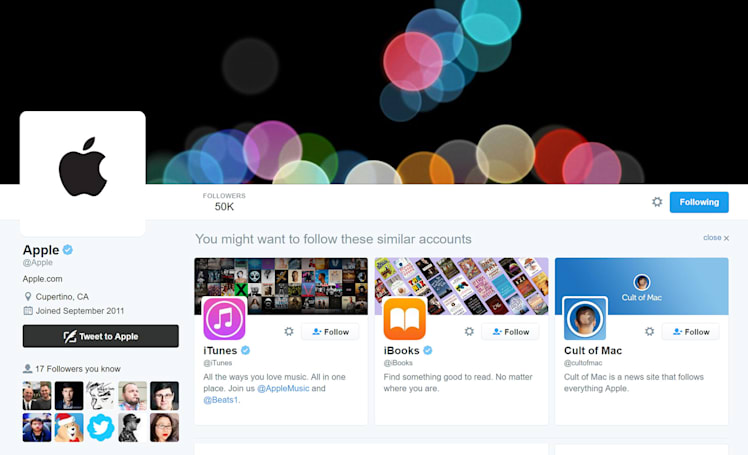 Apple activates its Twitter account ahead of iPhone event