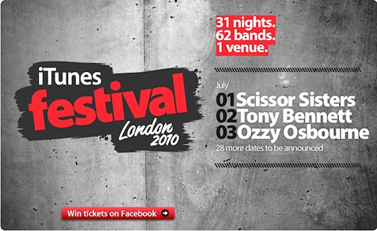 Apple announces dates for iTunes Festival London 2010