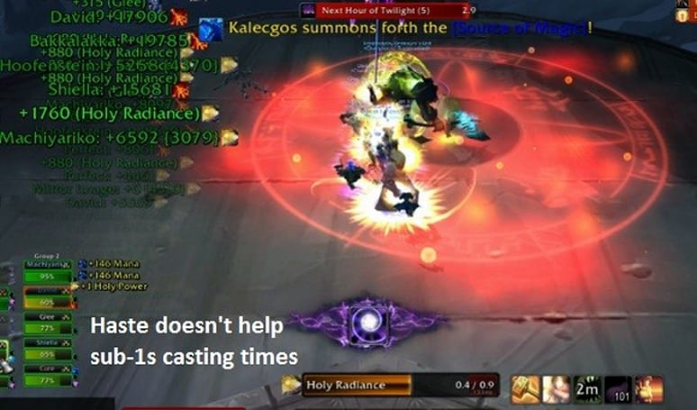 The Light and How to Swing It: Examining secondary stats for holy paladins
