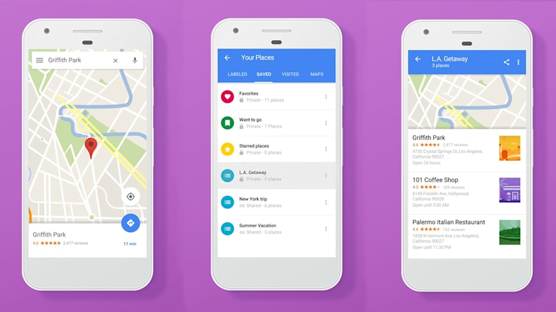 Google brings Foursquare-like favorite lists to Maps