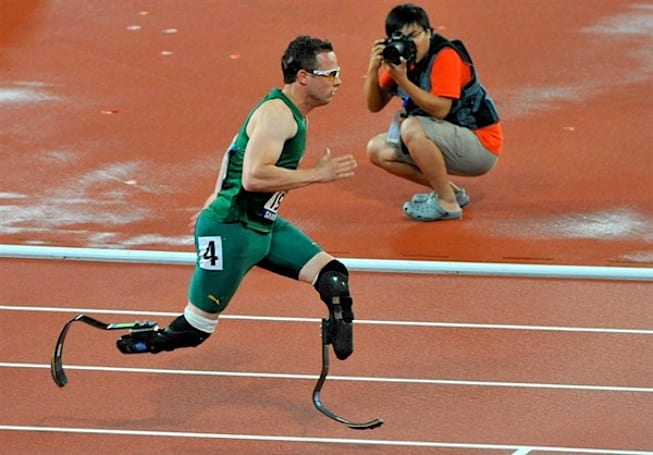 Double amputee Oscar Pistorius will race in the London Olympic games