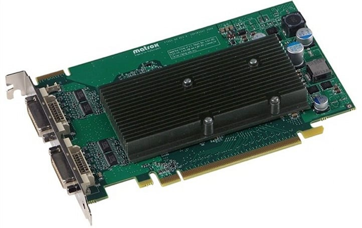 Matrox M-series graphic cards go 4-up natively