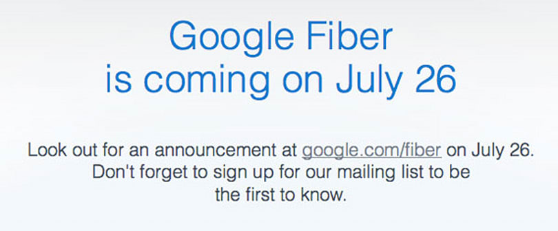 Google Fiber is coming on July 26, Kansas readies to open its pipes
