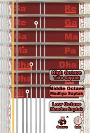 Pocket Sitar is a virtual sitar for the iPhone