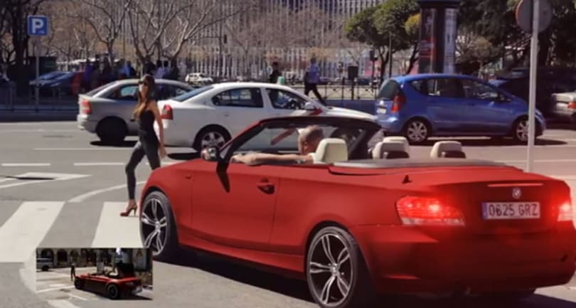 Grand Theft Auto 5 trailer remade in real life, in Madrid