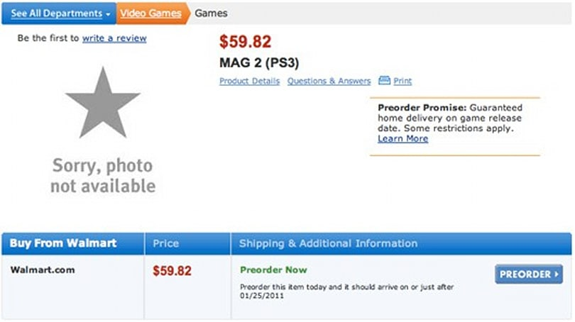 'MAG 2' listed by Walmart