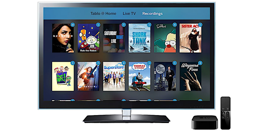 Tablo's live TV and DVR features now work on the Apple TV