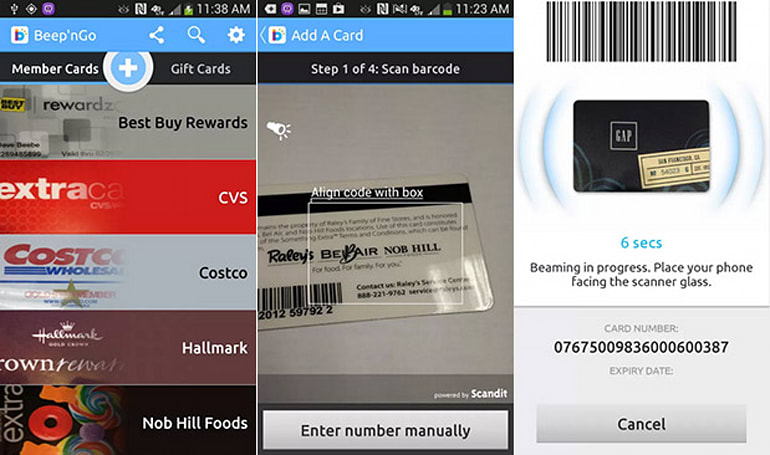 Mobeam's new app digitizes loyalty cards, exclusive to Note 3 and GS4