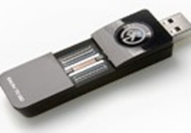 UPEK Eikon To Go RSA key comes with a built-in fingerprint reader