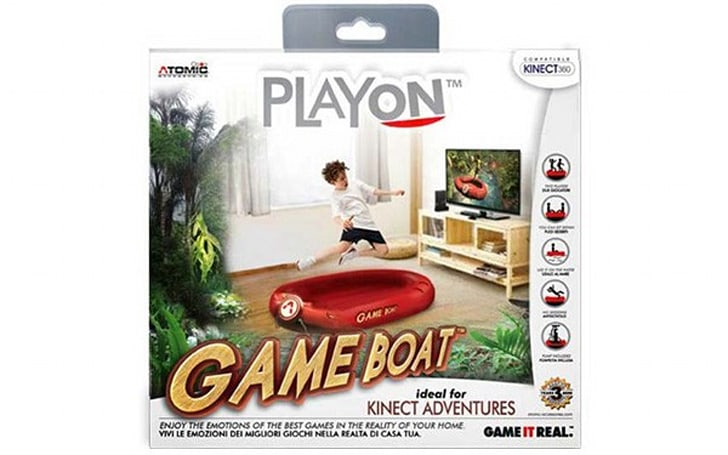 Xbox Kinect gets a new peripheral: a blow-up boat