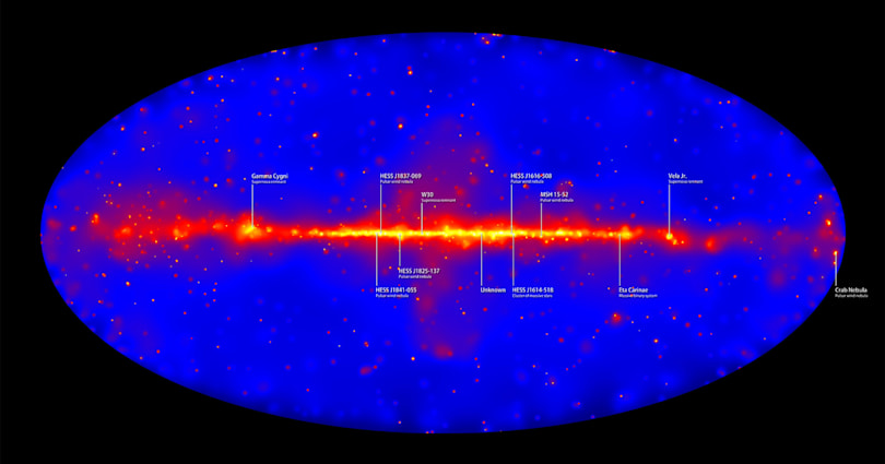 Gamma ray map offers best view yet of our galaxy's energy