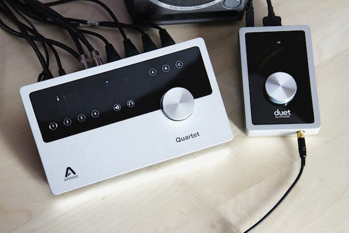 Apogee Duet and Quartet audio interfaces for Mac and iOS