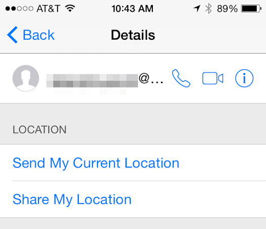 iOS 8 Messages app feature: Sending and sharing your location