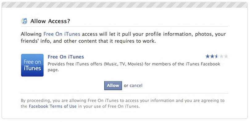 iTunes has a fan page on Facebook