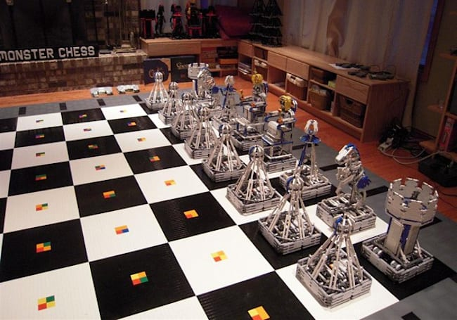 Monster Chess supersizes Lego robots for ultimate geek synergy