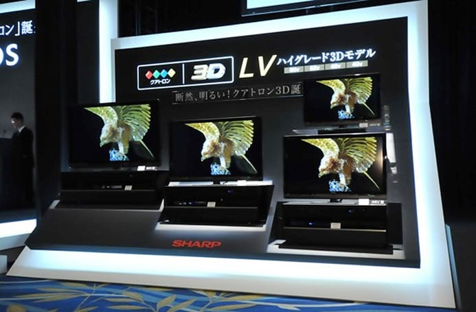 Sharp plunges headfirst into 3D market with LV-series Quattron TVs, Blu-ray DVRs