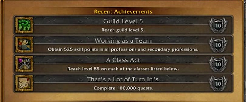 New achievements in the Mists of Pandaria beta